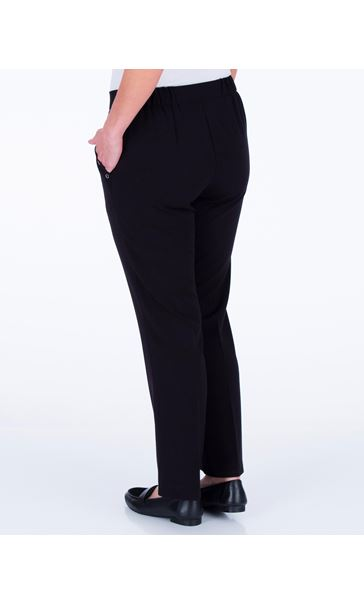 Anna Rose Straight Leg Trousers 27 Inch Black - Gallery Image 3
