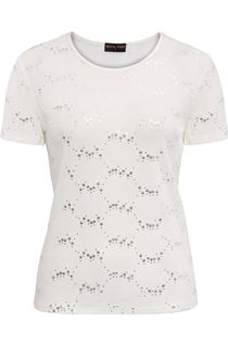 Anna Rose Textured Short Sleeve Top - Ivory
