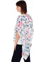 Embellished Floral Chiffon Layer Top Ivory Multi - Gallery Image 2