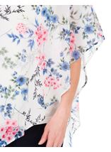 Embellished Floral Chiffon Layer Top Ivory Multi - Gallery Image 3