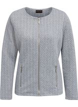 Anna Rose Zip Jacket With Lurex Grey Marl/Silver - Gallery Image 1