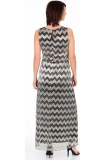 Embellished Shimmer Zig Zag Maxi Dress