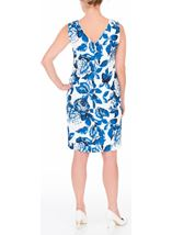 Anna Rose Sleeveless Bold Floral Midi Dress Ivory/Blue - Gallery Image 3