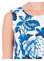 Anna Rose Sleeveless Bold Floral Midi Dress Ivory/Blue - Gallery Image 4