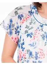 Anna Rose Bias Cut Floral Chiffon Top Ivory Multi - Gallery Image 3