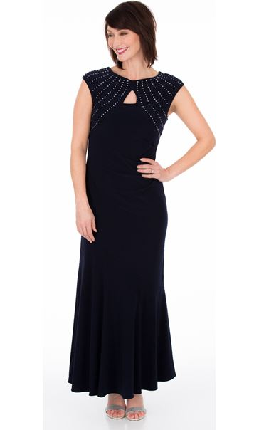 Embellished Fit And Flare Maxi Dress Midnight