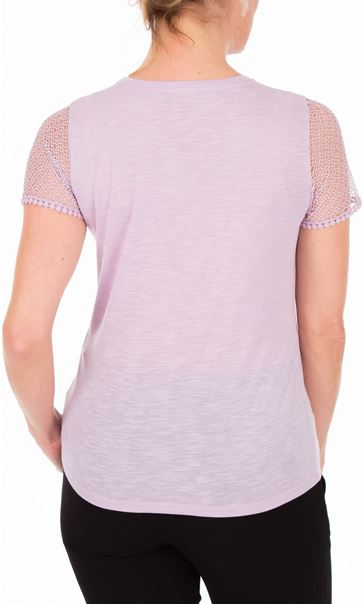Anna Rose Short Lace Sleeve Top Lilac - Gallery Image 2