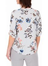 Anna Rose Floral Stripe Top Navy/Multi - Gallery Image 3