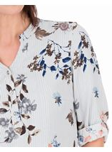 Anna Rose Floral Stripe Top Navy/Multi - Gallery Image 4