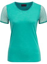 Anna Rose Short Lace Sleeve Top Jade - Gallery Image 4