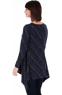 Long Sleeve Dipped Hem Knitted Tunic