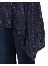 Long Sleeve Dipped Hem Knitted Tunic Navy - Gallery Image 3