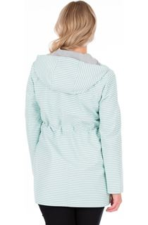 Lightweight Stripe Hooded Coat