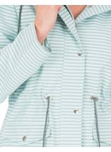 Lightweight Stripe Hooded Coat Aqua Stripe - Gallery Image 3