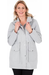 Lightweight Patterned Hooded Coat