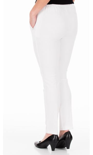 Anna Rose Slim Leg Trousers 29 Inch Ivory - Gallery Image 3
