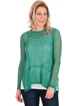 Lightweight Dip Hem Knit Top