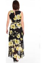 Printed Sleeveless Chiffon Maxi Dress Black - Gallery Image 2