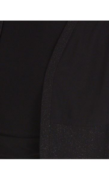 Glitter Trim Open Cover Up Black - Gallery Image 3