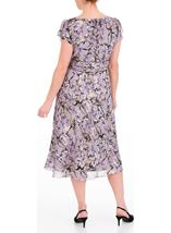 Anna Rose Bias Cut Midi Dress Lilac Multi - Gallery Image 3