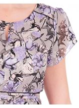 Anna Rose Bias Cut Midi Dress Lilac Multi - Gallery Image 4