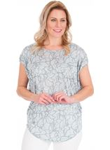 Short Sleeve Loose Fitting Jersey Top