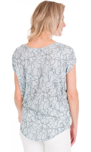 Short Sleeve Loose Fitting Jersey Top Pale Green - Gallery Image 2