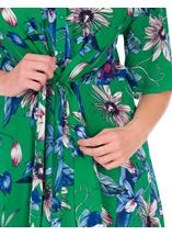 Short Sleeve Floral Shirt Dress Emerald/Multi - Gallery Image 3
