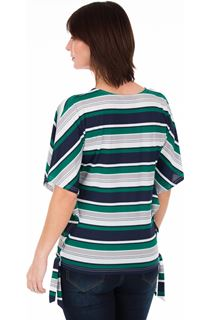 Striped Short Sleeve Jersey Top