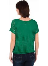 Layered Short Sleeve Top Emerald - Gallery Image 2