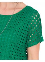 Layered Short Sleeve Top Emerald - Gallery Image 3