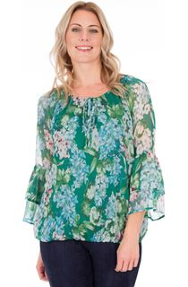 Floral Crinkle Chiffon Top