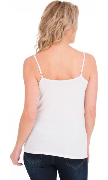 Adjustable Strappy Jersey Cami Top White - Gallery Image 2
