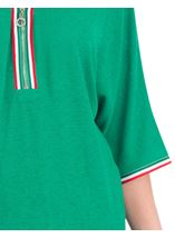 Braid Trim Loose Fit Knit Top Green - Gallery Image 3