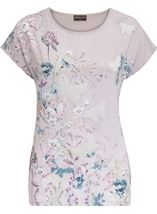 Anna Rose Garden Print Top Butterfly - Gallery Image 1