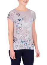 Anna Rose Garden Print Top Butterfly - Gallery Image 2