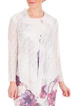 Anna Rose Glitter And Lace Cover Up Ivory - Gallery Image 1