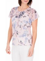 Anna Rose Bias Cut Georgette Top Soft Pink - Gallery Image 2