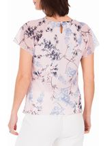 Anna Rose Bias Cut Georgette Top Soft Pink - Gallery Image 3