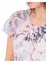 Anna Rose Bias Cut Georgette Top Soft Pink - Gallery Image 4