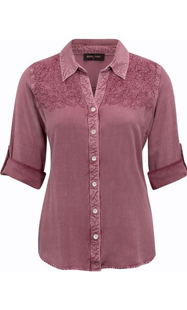 Anna Rose Washed Shirt Purple