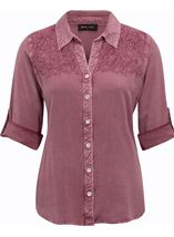 Anna Rose Washed Shirt Lilac - Gallery Image 1