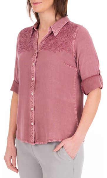 Anna Rose Washed Shirt Purple - Gallery Image 2
