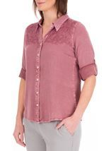 Anna Rose Washed Shirt Lilac - Gallery Image 2