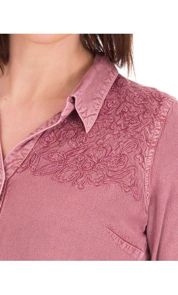 Anna Rose Washed Shirt Purple - Gallery Image 4