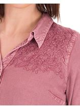 Anna Rose Washed Shirt Lilac - Gallery Image 4