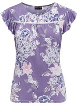Anna Rose Textured Floral Print Top