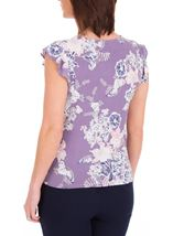 Anna Rose Textured Floral Print Top Lilac Multi - Gallery Image 3