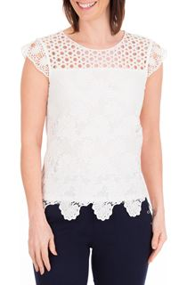 Anna Rose Lace Front Top