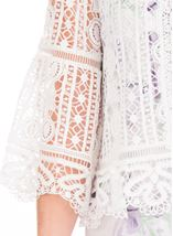 Anna Rose Crochet Three Quarter Sleeve Cover Up Ivory - Gallery Image 4